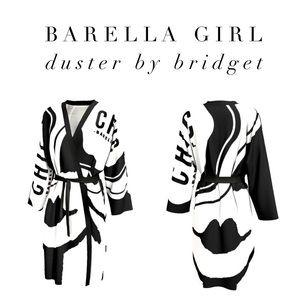 Barella Girl Duster Black & White